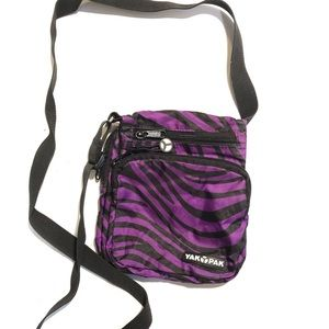 Yak Pak purple zebra small purse